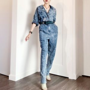 VTG Acid wash Denim Jumpsuits